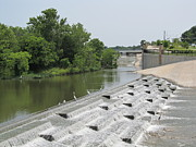 Spillways Prints - White Rock Lake Spillway Print by Donna Wilson