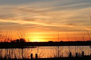 White Rock Lake Sunset Print by Lorri Crossno
