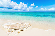 Turks And Caicos Islands Photos - White Sand by Chad Dutson