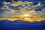 Atom Bomb Prints - White Sands Sunset Print by Scotts Scapes