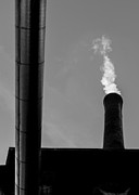 Factory Photos - White Smoke by Bob Orsillo