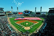 Baseball Game Framed Prints - White Sox Opening Day Framed Print by Benjamin Yeager