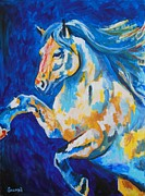Veronica Silliman - White Stallion Abstract