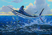 Striped Marlin Prints - White surprise Off0050 Print by Carey Chen