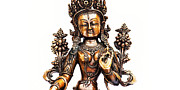 Tibetan Buddhism Photo Metal Prints - White Tara Metal Print by Tim Gainey