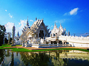 Religious Prints Photo Originals - White Temple  by Ilse Maria Gibson