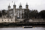 Dungeon Digital Art Acrylic Prints - WHITE TOWER at TOWER of LONDON Acrylic Print by Daniel Hagerman