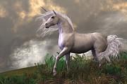 Corey Ford - White Unicorn Stallion
