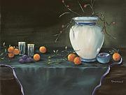 Carol Sweetwood - White Vase and Vines