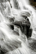 Abstract Water Fall Framed Prints - White Water Falls Framed Print by Christina Rollo