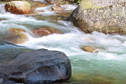 Green Movement Metal Prints - White Water Metal Print by Heidi Smith