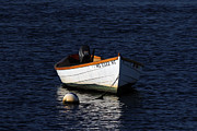 Cape Cod Photography Posters - White Wooden Dinghy at Pamet Harbor on Cape Cod Poster by Juergen Roth