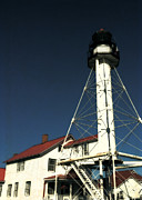 Whitefish Posters - Whitefish Point Light Station Poster by Michelle Calkins