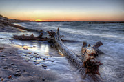 Whitefish Posters - Whitefish Point Sunset Poster by Twenty Two North Photography