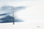 Cold Pastels - Whiteout by George Burr