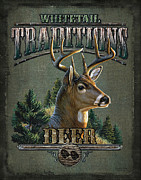 Whitetail Deer Painting Framed Prints - Whitetail deer Traditions Framed Print by JQ Licensing