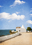 Mediterranean Metal Prints - Whitewashed House Algarve Portugal Metal Print by Christopher and Amanda Elwell