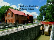 Metamora Indiana Metal Prints - Whitewater Canal Locks Metal Print by Gary Wonning