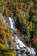 Falls Photos - Whitewater Falls with Rainbow by John Haldane
