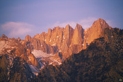 Mount Whitney Posters - Whitney Sunrise Poster by Peter Coskun