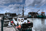Fishing Trawler Posters - Whitstable harbour Poster by Ian Hufton