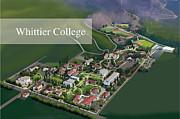Whittier College Print by Rhett and Sherry  Erb