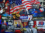 Tv Painting Posters - WHNT 50 Years Poster by Carole Foret