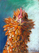 Domestic Animals Pastels - Who Are You by Kate Owens