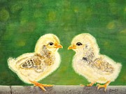 Birds Painting Originals - Who Are You? by Zulfiya Stromberg
