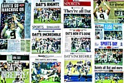 Newspaper Framed Prints - Who Dat Headlines Framed Print by Benjamin Yeager