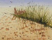 Sand Dunes Paintings - Who Goes There by Robert Havens