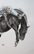 Rodeo Art Drawings - Who has the Time by Leonie Bell