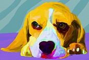 Beagle Paintings - Who me by Patti Siehien