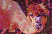 Ranch Pastels Prints - Who You Lookin At Print by Mary McInnis