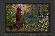 Birthday Photos - Whooos Happy Birthday - Greeting Cards by Jean OKeeffe by Jean OKeeffe
