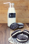 Cookies And Milk Prints - Whoopie Pies or Moon Pies and Milk Print by Stephanie Frey