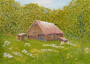 Old Barns Paintings - Whose Barn - What Barn - My Barn  by Joel Deutsch