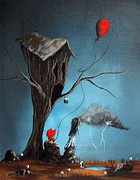 Surreal Art Paintings - Why Are You So Mad by Shawna Erback by Shawna Erback