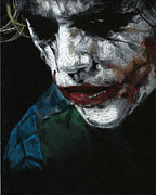 The Dark Knight Drawings - Why So Serious? by Teresa Beveridge