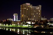 Hyatt Hotel Prints - Wichita Hyatt along the Arkansas River Print by Bill Cobb