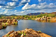 Lakes Digital Art - Wichita Mountains by Jeff Kolker
