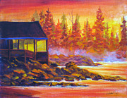 Panorama Painting Originals - Wickaninnish Inn by Mohamed Hirji