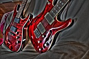 Lebron Metal Prints - Wicked Relations Digital Guitar Art by Steven Langston Metal Print by Steven Lebron Langston