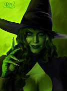 Wicked Witch Of The West Prints - Wicked Witch Print by Mark Spears