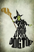 Typography Print Posters - Wicked Witch of the West Poster by Ayse T Werner
