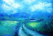 Laneway Prints - Wicklow Landscape Summer Rain Approaching  Print by Trudi Doyle