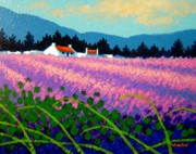 Impressionism Acrylic Prints Art - Wicklow Lavender - Ireland by John  Nolan