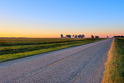 Silos Posters - Wide Open Roads - Rural Georgia Landscape Poster by Mark E Tisdale