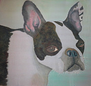 Wiggy The French Bulldog Print by Rebecca Wachtman