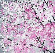 Tree Blossoms Paintings - Wild About Spring by Kume Bryant